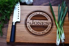 personalized cutting board wedding gift weding personalized wedding gift monogrammed wood cutting board