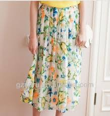 flowy maxi skirts design floral print flowy chiffon maxi skirts buy