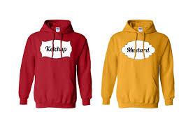costume hoodies ketchup and mustard halloween hoodies