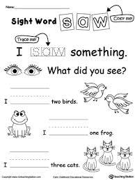 free worksheets sight word worksheets kindergarten free free