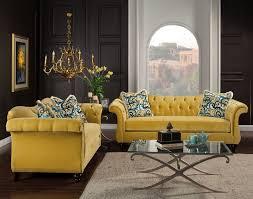 Yellow Living Room Set | dallas designer furniture antoinette living room set in royal yellow