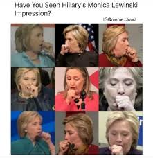 hillary got that monica lewinsky impression game on point the donald