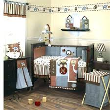 Sports Theme Crib Bedding Decoration Baby Boy Sports Crib Bedding Set Bailey Charcoal And
