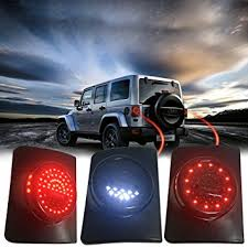 jeep jk led tail light bulb amazon com firebug jeep wrangler rear led lights jeep wrangler led