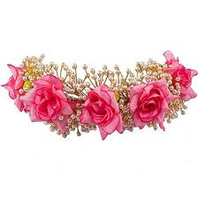 bun accessories fully hair accessories for women wedding artificial flowers for