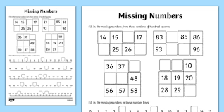 numbers activity sheet worksheet