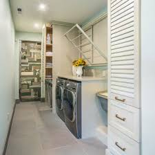 fold down drying rack ideas laundry room transitional with