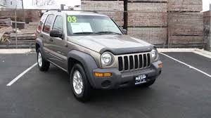 silver jeep liberty interior 2003 jeep liberty 3 7 sport 4x4 youtube