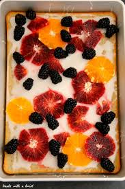 fruit treats vanilla bean cardamom poppy seed sheet cake with lemon glaze