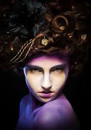 makeup and hair classes go high class renaissance with an elaborate costume big teased