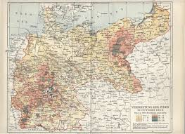 Weimar Germany Map by Jews In The German Reich 1890