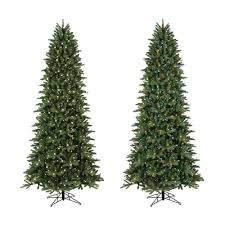 slim christmas tree with led colored lights ge 9 ft pre lit frasier fir slim artificial christmas tree white
