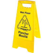 Wet Floor Images by Impact Products English Spanish Wet Floor Sign Urban Office Products