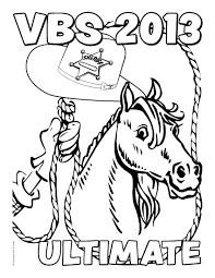 western coloring picture with cowboy western coloring picture