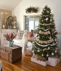 Christmas Livingroom Vintage Farmhouse Christmas Tree Little Vintage Nest