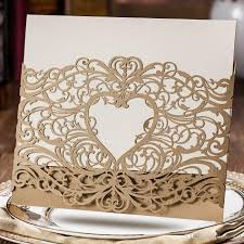 Invitations Cards Free Wedding Invitations Laser Cut Heart Shape Free Customized Printing