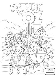 Stories Tales Return To Oz Wizard Of Oz Coloring Pages For Kids Wizard Of Oz Coloring Pages