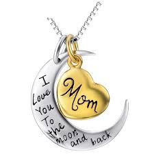 s day charm necklace engraved letters silver charm necklace for s