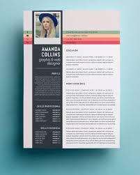 Creative Resumes Templates Free Resume Graphic Designer Template Free Vector Vita Resume Template