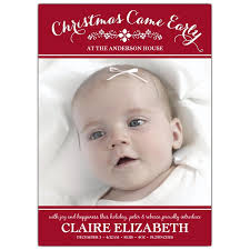 birth announcements christmas came early photo birth announcements paperstyle