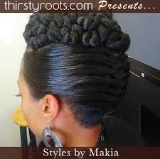 images of braids with french roll hairstyle twisted updo hairstyle thirstyroots com black hairstyles