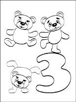 Number 3 Three Coloring Page Coloring Pages Number 3 Coloring Page