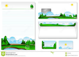 letterhead with the theme of landscape stock vector image 23453837