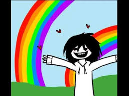 Double Rainbow Meme - jeff the killer double rainbow this is what i think of jeff the