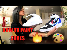 Spray Paint Your Shoes - how to paint your shoes tutorial restore and customize with