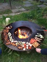 Grill Firepit Nuestra Grillring Hecho En Suiza La Horticultura Doméstica