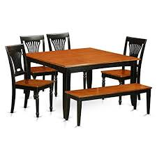 6 pc dining table set pfpl6 bch w 6 pc dining room set with bench dining table with 4