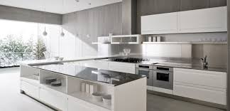 astounding neutral white kitchen design layout presenting l shape