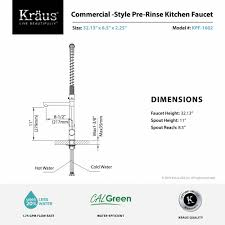 pre rinse kitchen faucets kitchen faucet kraususa com