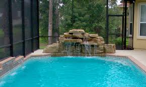 waterfalls for inground pools amazing swimming pool waterfall designs contemporary best ideas