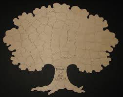100 pc wedding guest book tree puzzle rustic wedding guest