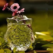 aliexpress com buy fashion owl crystal glass vase hydroponic
