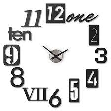 umbra take 5 black wall clock quirky designer clock