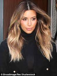 hombre style hair color for 46 year old women kim kardashian prepares to cut her hair chameleons ombre and