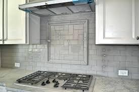 glossy subway tile backsplash wonderful gray kitchen with glossy