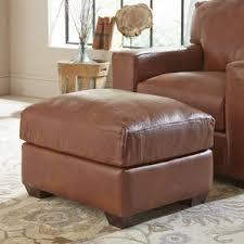 pratt leather ottoman wayfair