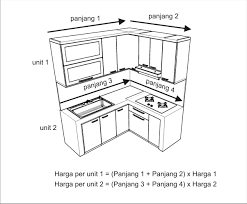 Kitchen Set Minimalis Untuk Dapur Kecil 2016 Cara Menghitung Harga Kitchen Set