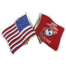 Civil War Union Flags Usa And Usmc Flag Lapel Pin