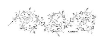 Flower Designs For Drawing Calligraphy Design Simple Drawn And Painted Borders The