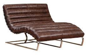 chaise lounge sofas furniture curved brown leather double chaise lounge sofa with