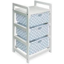 Badger Basket Armoire Badger Basket White Finish Three Drawer Hamper Storage Unit Blue