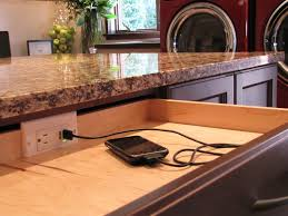 Desk With Charging Station Charging Station For Electronics Laundry Room Contemporary With
