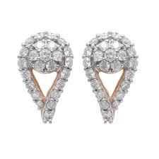 diamond earrings designs design prong set half bali diamond earrings 60277310