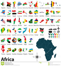 Map Of Africa Political by Maps With Flags Of Africa Stock Photography Image 36551482