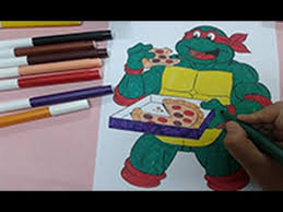 arts kids color ninja turtles colouring pages