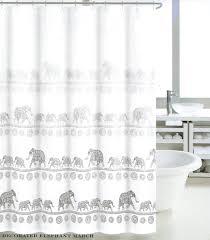 White Cotton Duck Shower Curtain by Tahari Luxury Mandala Elephant Oriental Boho Style Fabric Shower